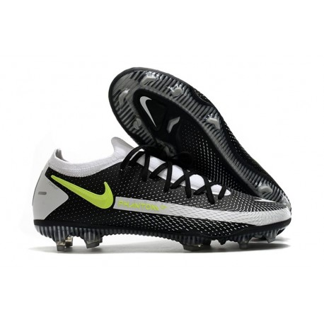 Men Nike Phantom GT Elite FG 2021 Cleat Black Gray Volt