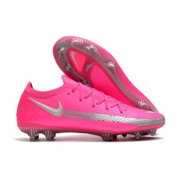 Men Nike Phantom GT Elite FG 2021 Cleat Pink Silver
