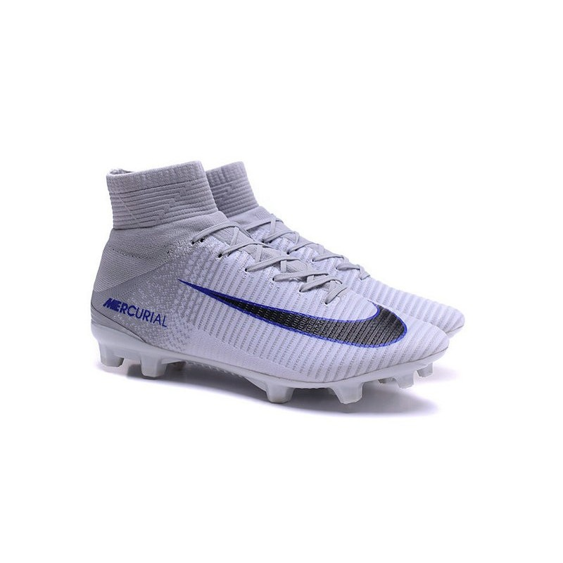 CHEAP NIKE SOCCER NIKE MERCURIAL SUPERFLY V FG WHITE BLUE BLACK