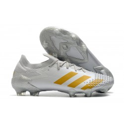 adidas Predator Mutator 20.1 Low FG Soccer Cleats White Gold