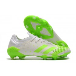 adidas Predator Mutator 20.1 Low FG Soccer Cleats White Green