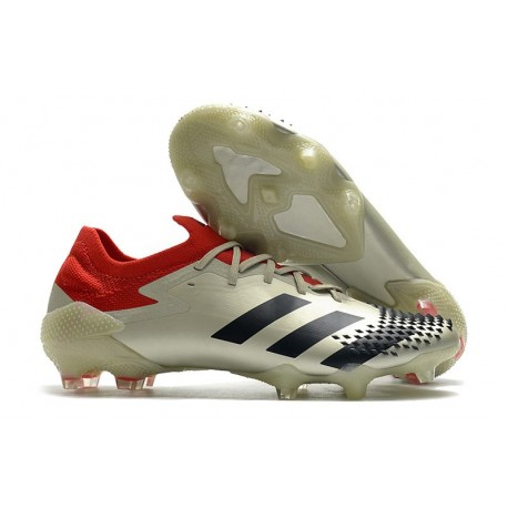 Mens adidas Predator Mutator 20.1 Low Cut FG White Black Red