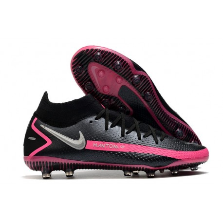 Nike Phantom GT Elite Dynamic Fit AG-PRO Black Pink Blast Metallic Silver
