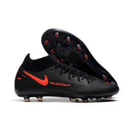 Nike Phantom GT Elite Dynamic Fit AG-PRO Nero Rosso Cile Grigio Scuro
