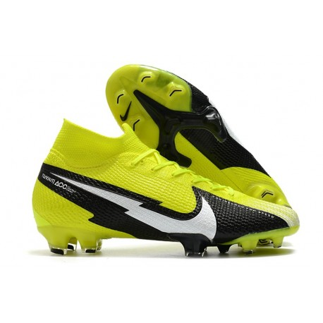 New Nike Mercurial Superfly 7 Elite DF FG Yellow Black White