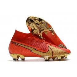 Cristiano Ronaldo Nike Mercurial Superfly 7 Elite DF FG CR100 Red Gold