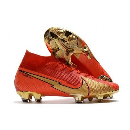 Cristiano Ronaldo Nike Mercurial Superfly 7 Elite DF FG CR100 Red Gold