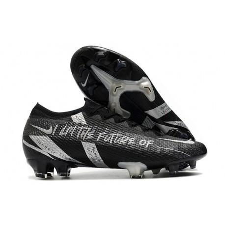 New Nike Mercurial Vapor 13 Elite FG Future Black Silver