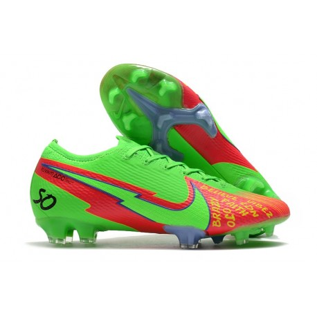 New Nike Mercurial Vapor 13 Elite FG Green Red