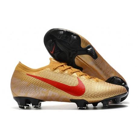 New Nike Mercurial Vapor 13 Elite FG Golden Red