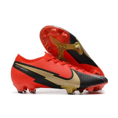 New Nike Mercurial Vapor 13 Elite FG Red Black Gold