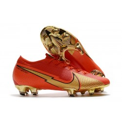 New Nike Mercurial Vapor 13 Elite FG CR100 Red Gold