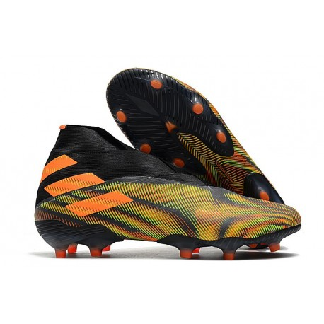 Adidas Nemeziz 19+ FG Soccer Cleat - Green Black Orange