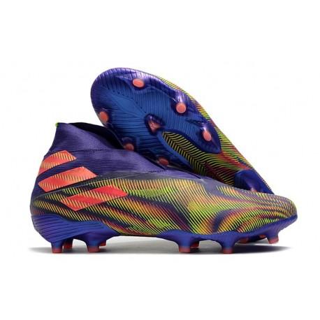 Adidas Nemeziz 19+ FG Soccer Cleat-Energy Ink Signal Pink Signal Green