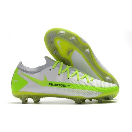 Nike Phantom GT Elite FG Soccer Shoes White Volt