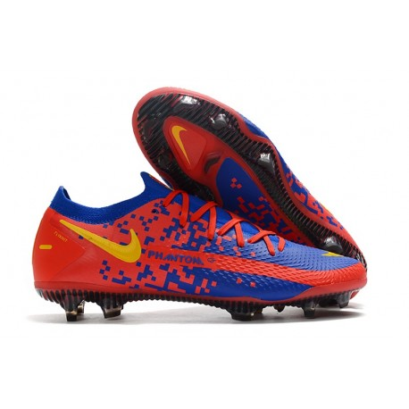 Nike Phantom GT Elite FG Soccer Shoes Red Blue Yellow