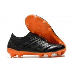 Adidas Copa 19.1 FG Firm Ground Mens Boots - Core Black Signal Orange