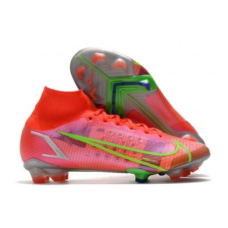 Nike Mercurial Superfly 8 Elite FG Boots Bright Crimson Metallic Silver