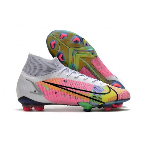 Nike Mercurial Superfly 8 Elite FG Boots White Multicolor