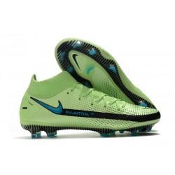 Nike Phantom GT Elite DF FG Soccer Cleats Green Black Blue