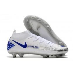 Nike Phantom GT Elite DF FG Soccer Cleats White Blue Black