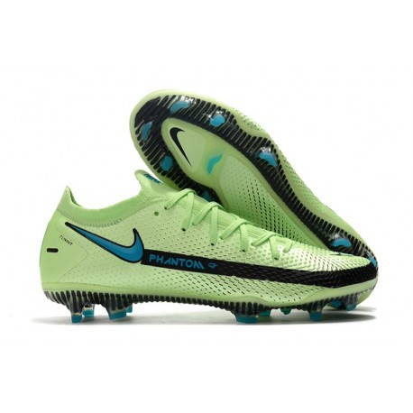 Nike Phantom GT Elite FG Soccer Shoes Impulse - Lime Glow/ Aquamarine