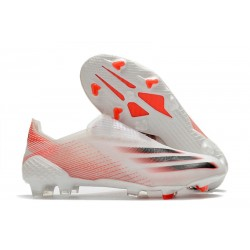adidas X Ghosted + FG Boots White Red Black