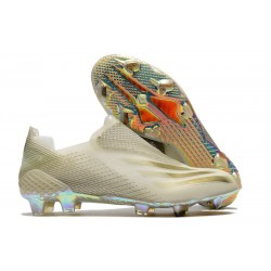 adidas X Ghosted + FG Boots White Gold