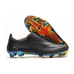 adidas X Ghosted + FG Boots Black Blue