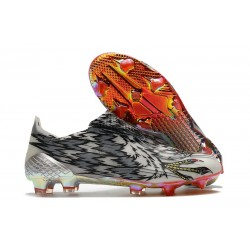 adidas X Ghosted + FG Boots Black White Red