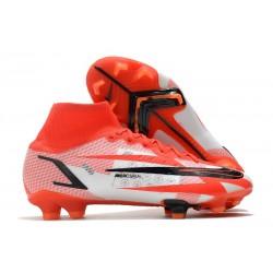 Nike Mercurial Superfly 8 Elite FG Chile Red Black White Total Orange