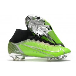 Nike Mercurial Superfly 8 Elite FG Boots Green Silver
