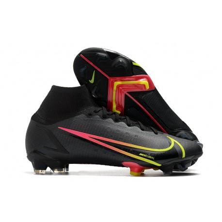 Nike Mercurial Superfly 8 Elite FG Boots Black Cyber Off Noir