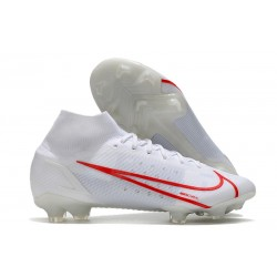 Nike Mercurial Superfly 8 Elite FG Boots White Red