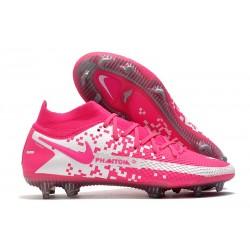 Nike Phantom GT Elite DF FG Soccer Cleats Pink White