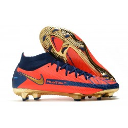Nike Phantom GT Elite DF FG Soccer Cleats Orange Gold Blue