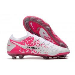 Nike Phantom GT Elite FG Soccer Shoes White Pink