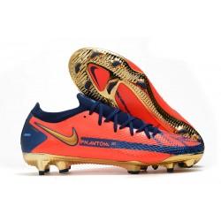 Nike Phantom GT Elite FG Soccer Shoes Orange Gold Blue