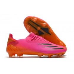 adidas X Ghosted.1 FG Shoes Superspectral - Shock Pink/Core Black/Screaming Orange