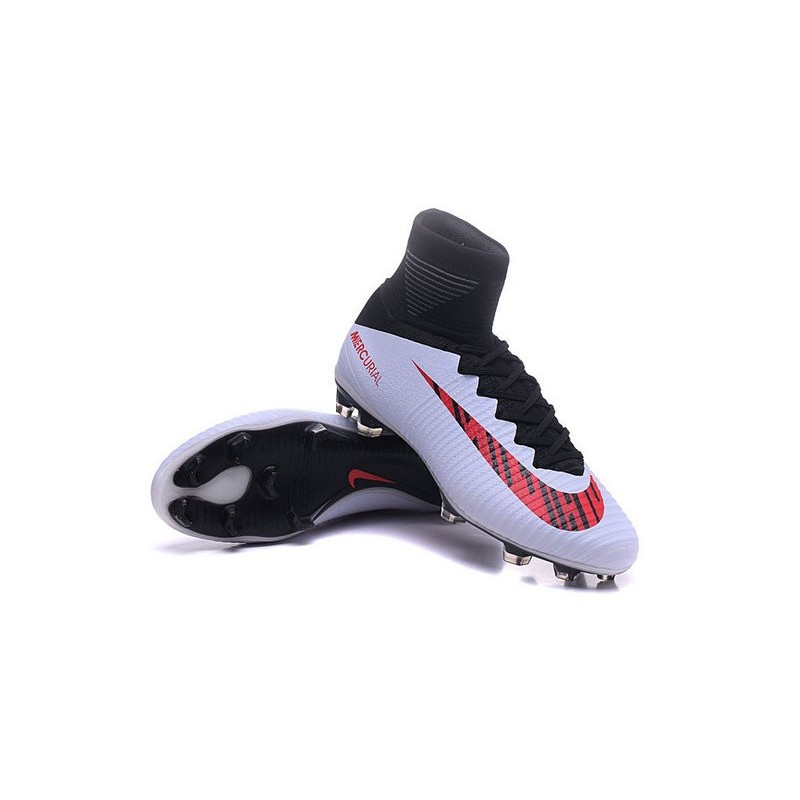 105a42b98 Nike Men Mercurial Superfly V FG ACC Soccer Shoes - White Red