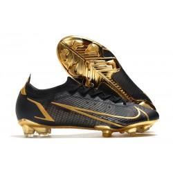 Nike Mercurial Vapor 14 Elite FG Cleats Black Golden