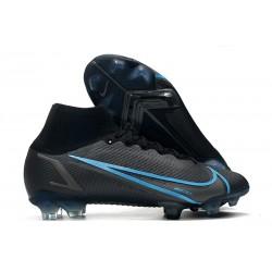 Nike Mercurial Superfly VIII Elite FG Cleat Black Iron Grey