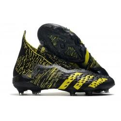 adidas Predator Freak + FG/AG Black Yellow