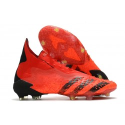 adidas Predator Freak + FG/AG Red Core Black Solar Red
