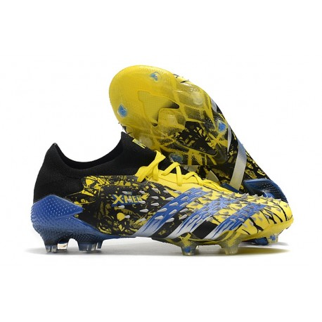 adidas Predator Freak.1 Low FG X-Men Wolverine - Bright Yellow Silver Metallic Core Black