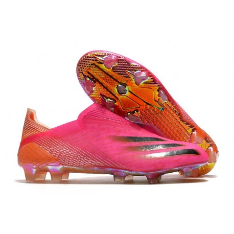adidas X Ghosted + FG Superspectral - Shock Pink /Core Black /Screaming Orange