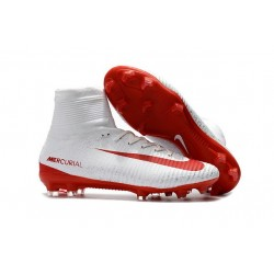 Nike Mercurial Superfly V FG ACC - Firm Ground Soccer Shoes - White Red