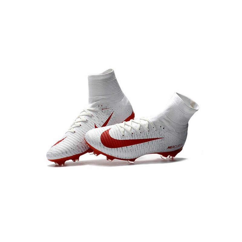 711658cdc09 Nike Mercurial Superfly V FG ACC - Firm Ground Soccer Shoes - White Red