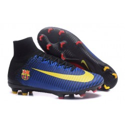 Nike Mercurial Superfly V FG ACC - Firm Ground Soccer Shoes - Barcelona FC Blue