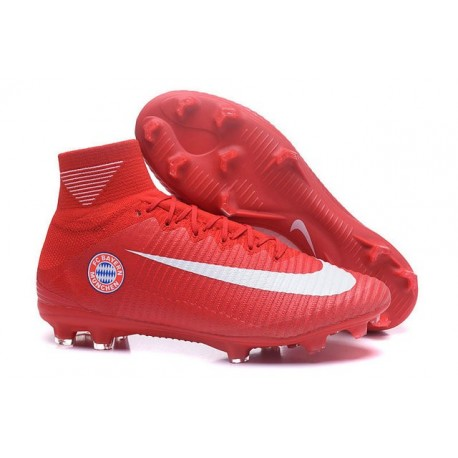 Nike Mercurial Superfly V FG ACC - Firm Ground Soccer Shoes - FC Bayern München Red